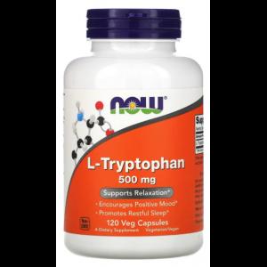 Триптофан , L-Tryptophan 500 мг - 60 caps , NOW Foods (США )