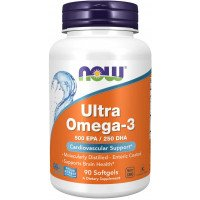 Рыбий жир , Ultra Omega-3 - 90 caps , NOW Foods (США )