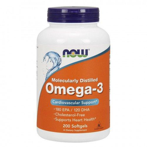 Рыбий жир, Омега-3 , Omega-3 1000 mg - 200 caps , NOW Foods (CША)