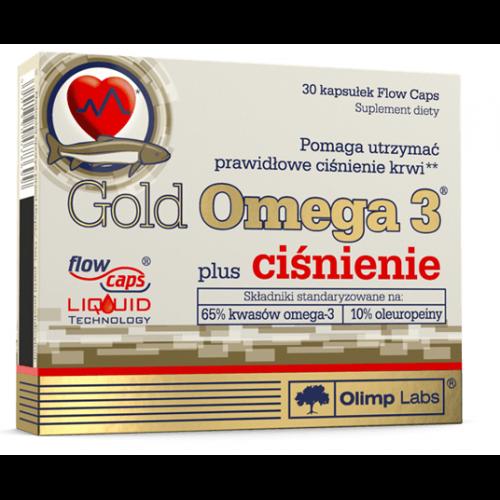 Рыбий жир, Омега-3 , Gold Omega 3 Plus ciśnienie - 30 caps , Olimp Sport Nutrition (Польша)