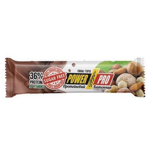 Протеиновый батончик , NUTELLA БЕЗ ЦУКРУ горіховий 32% - 60 g , Power Pro (Украина)