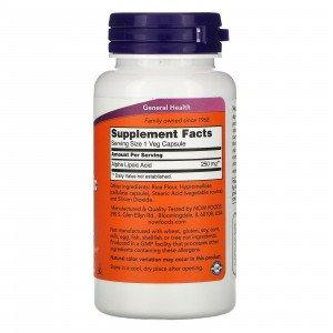 Альфа-липоевая кислота , Alpha Lipoic Acid 100 - 60 caps , NOW Foods (США )