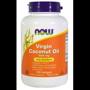 Красота и уход, Virgin Coconut Oil 1000 mg - 120  caps, NOW Foods