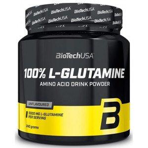 Глютамин, 100% L-Glutamine - 240  g, BioTech (USA)